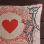 Tin Man Pillow - Close Up