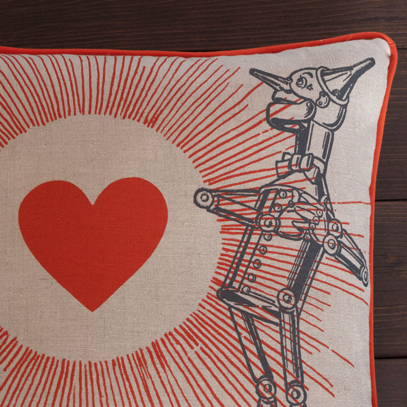Tin Man Pillow - Close Up