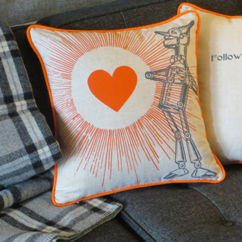 Tin Man Wizard of Oz Pillow