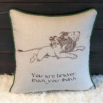 Cowardly Lion Pillow - Back