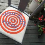 Your Butt Goes Here - Bullseye Seat Cover - Upholstered on Chair