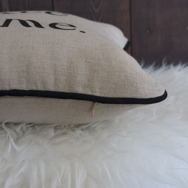 No Place Like Home Pillow - Hidden Zipper