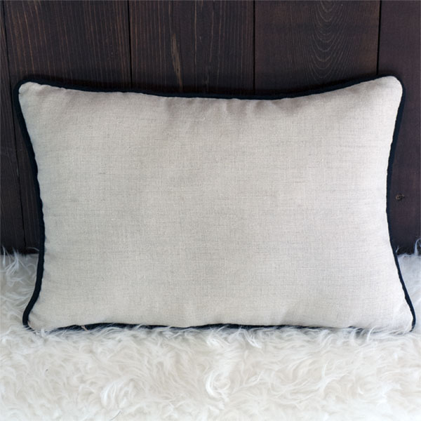 No Place Like Home Pillow - Back