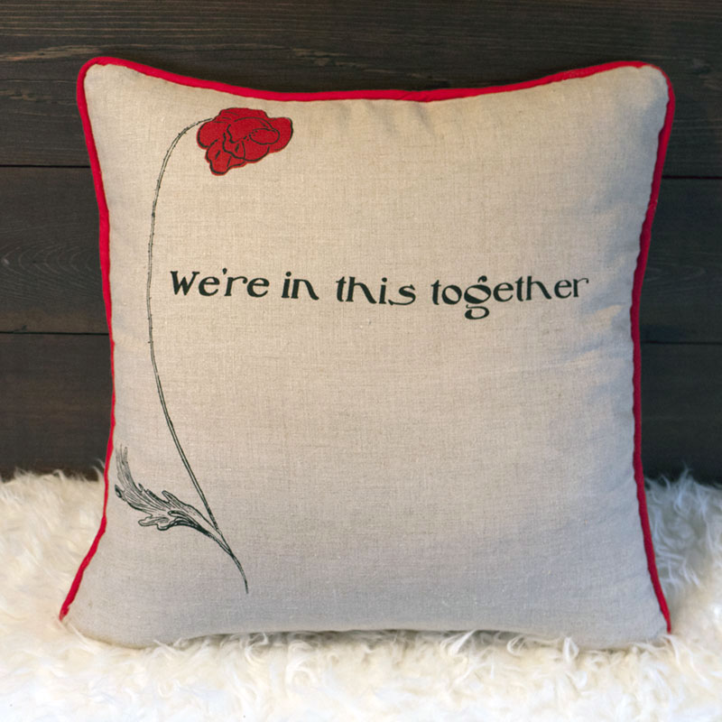 The Poppy Field Pillow - Back