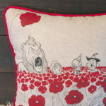 The Poppy Field Pillow - Close Up