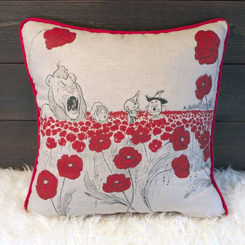 The Poppy Field Pillow