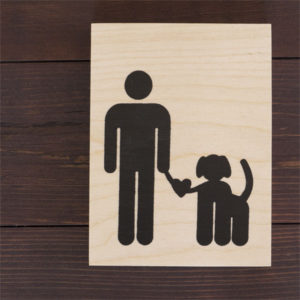 For the Love of Dogs - Wood Panel