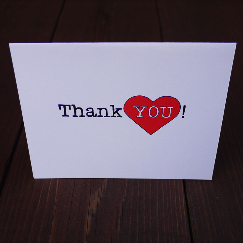 Thank You Card by Suzanne Harrison Home