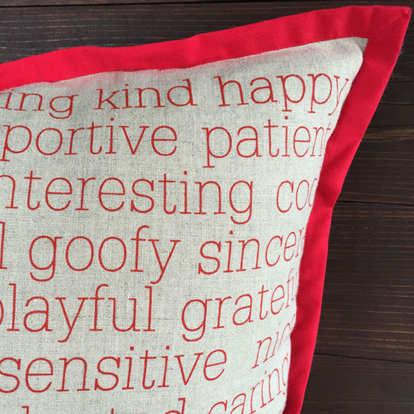 Inspirational Pillows - Qualities - Close Up - by Suzanne Harrison Home