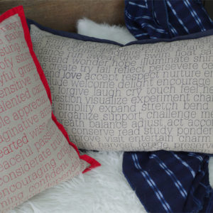 Inspirational Pillows - Words to Live By - by Suzanne Harrison Home