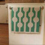 Abstract Circles Tea Towel - Green