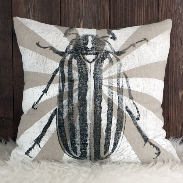 June Bug Beetle Pillow