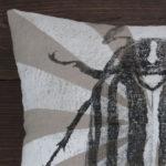 June Bug Beetle Pillow - Close Up
