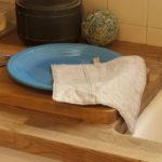 Linen Scraps Dish Cloth