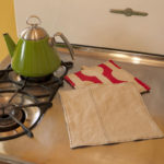 Linen Scraps Dish Cloth