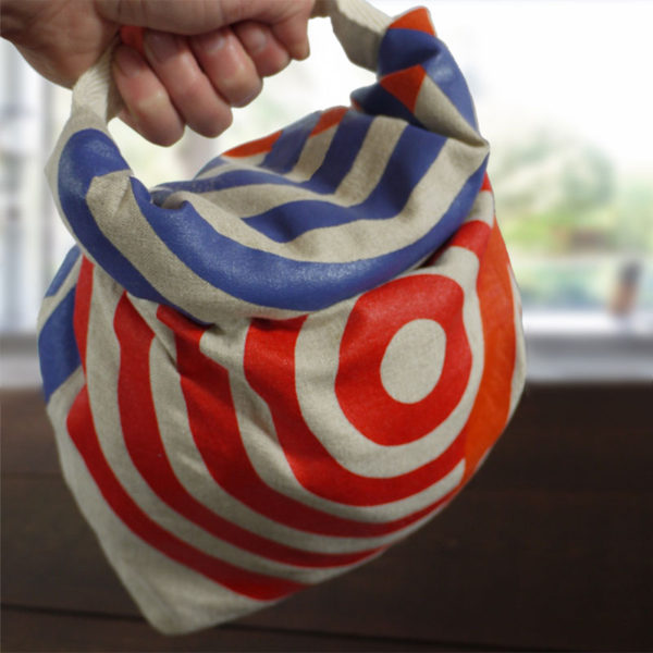 Roll Top Linen Lunch Bag