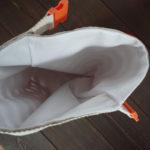 Roll Top Linen Lunch Bag - Inside