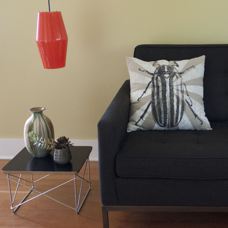 Beetle Pillow Living Room