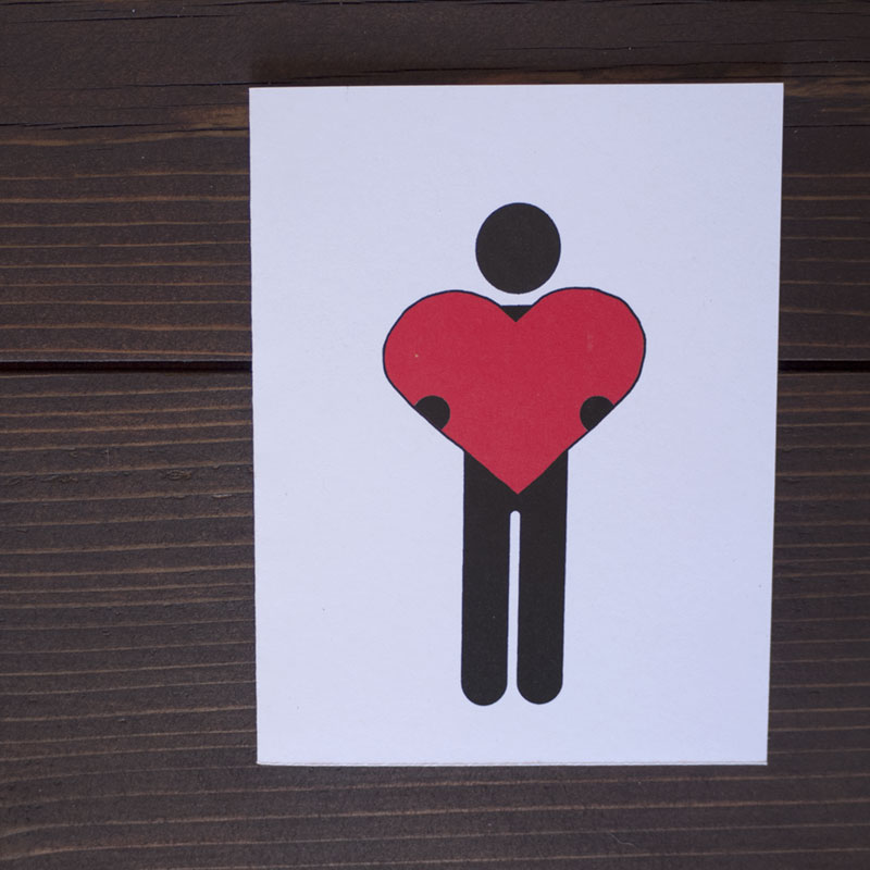 Big Heart Greeting Card