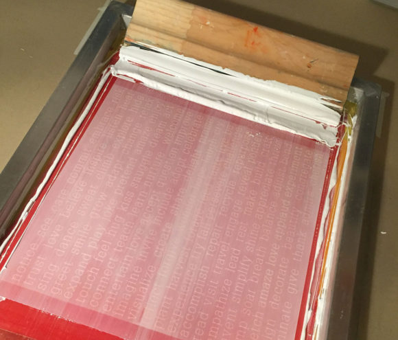 Screen Printing Pillows