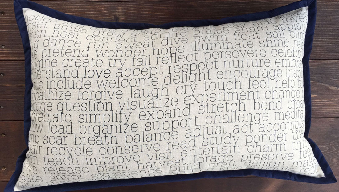 Inspirational Pillow - Actions - by Suzanne Harrison Home