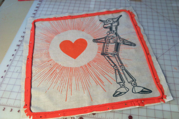 Tin Man Pillow Under Construction