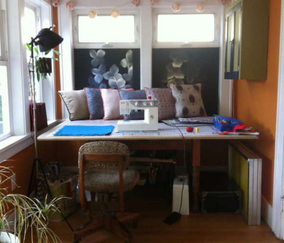 Screen Printing and Sewing Studio Nook