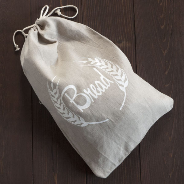 Natural Linen Bread Bag
