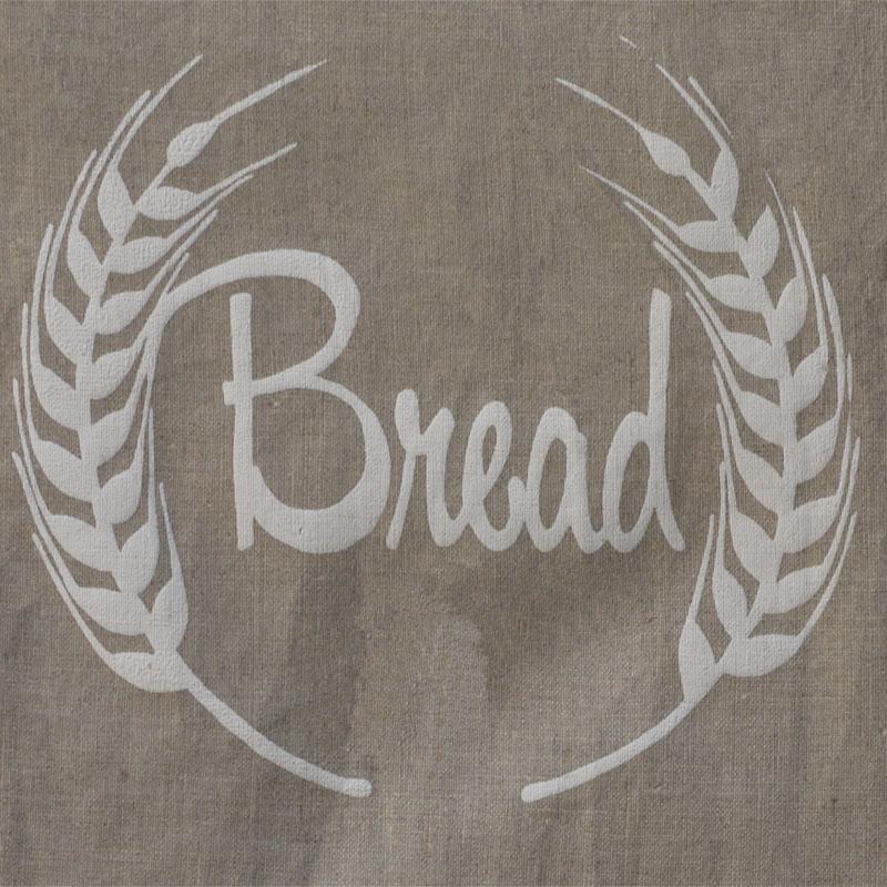 Natural Linen Bread Bag Image