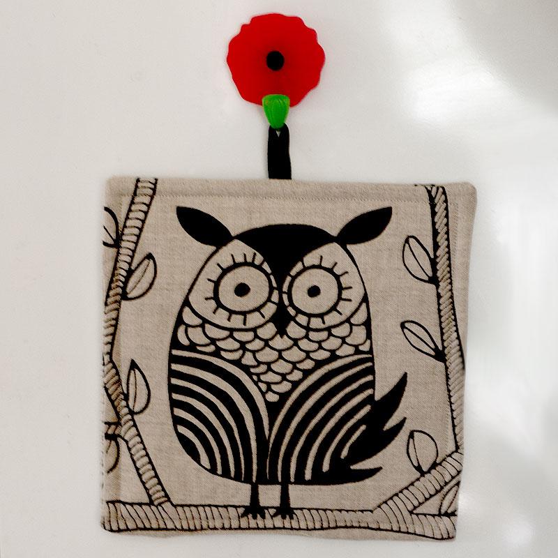 Owl Potholder Hangiing