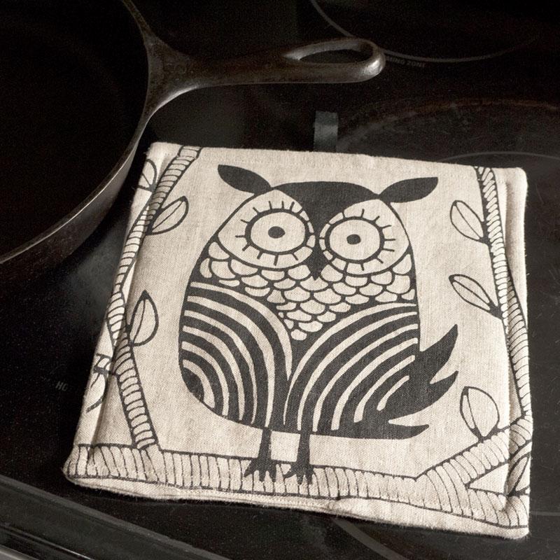 Owl Potholder on Stove