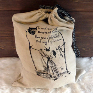 Linen Travel Laundry Bag