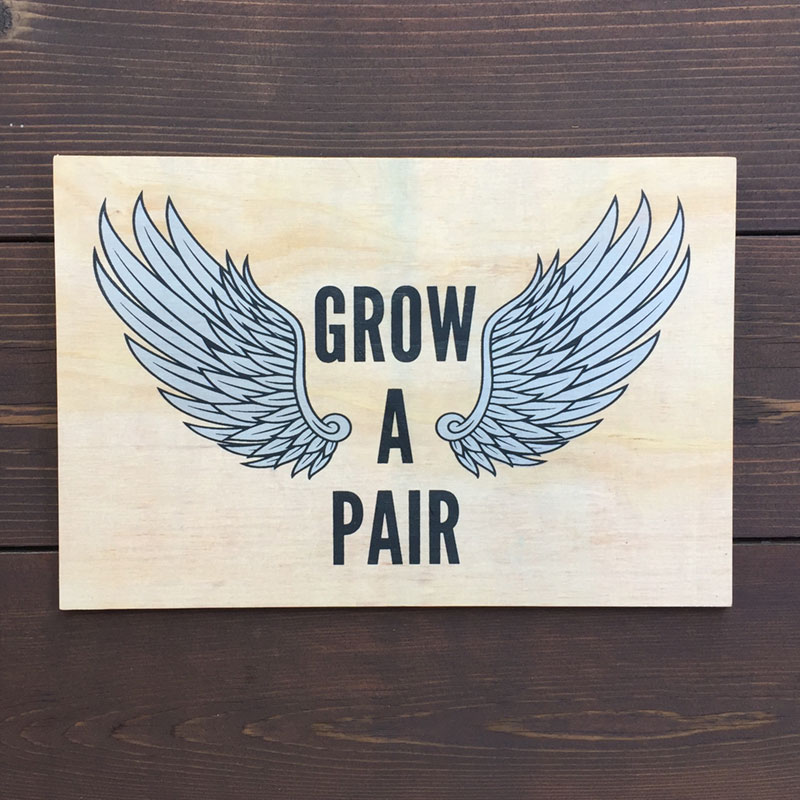 Grow a Pair of Wings Wood Wall Art - Featured Image